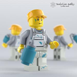 3D lego decorator figure model
