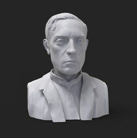Buster Keaton bust (3D print ready)