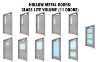 door hollow metal 3D model