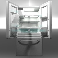 3D 24 french door refrigerator model