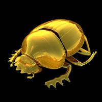 3D egypt egyptian scarab