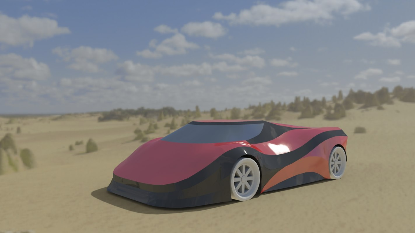 car electric fast 3D model