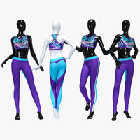 3D female sport suit