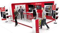 vodacom mobile exhibition stand model