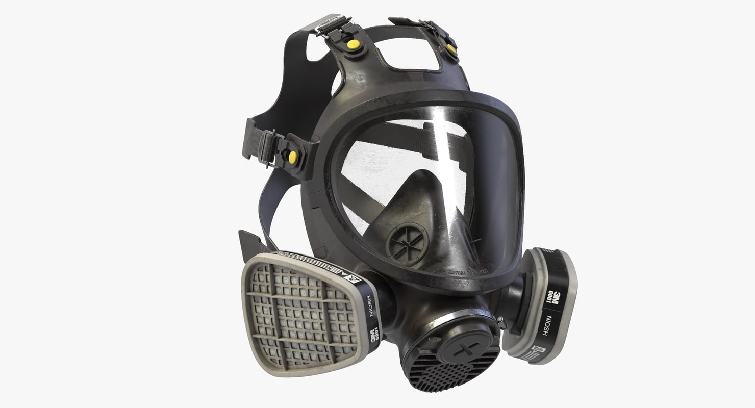 3D face respirator 3m 7800 model