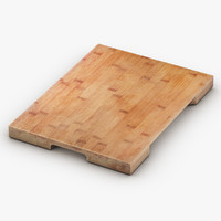 3D model wooden cutting board