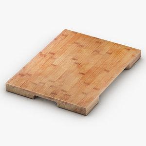 3D model wooden cutting board