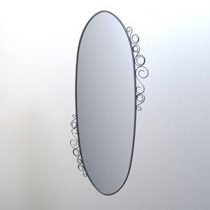 3D mirror ikea ekna model