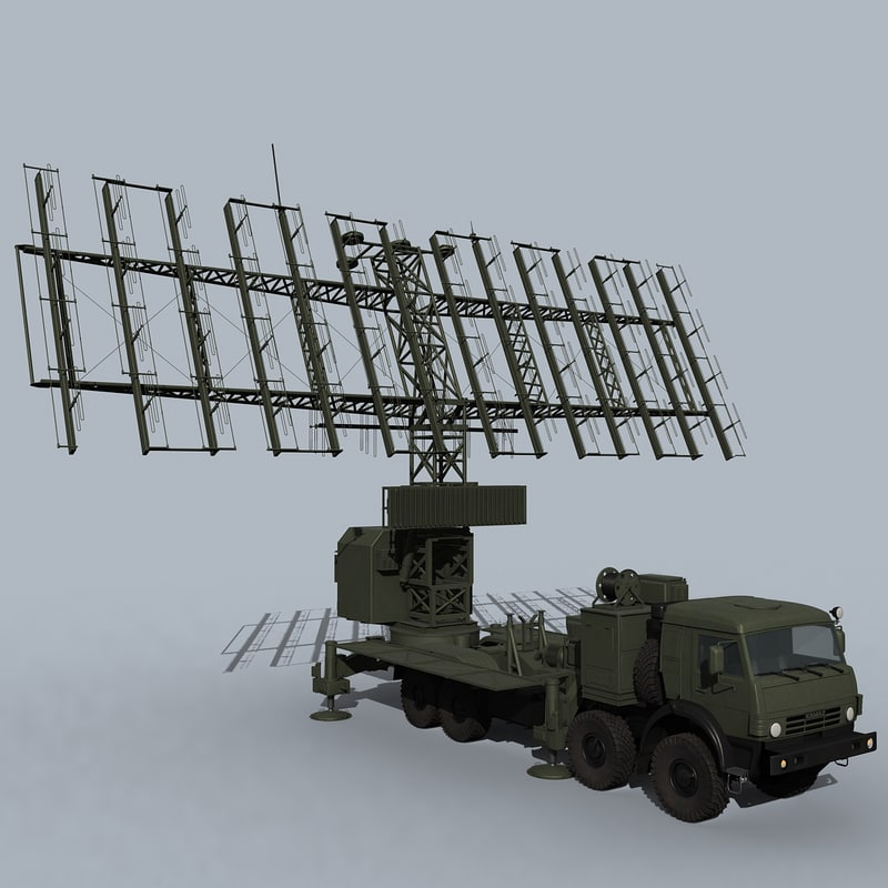 russian mobile radar 3D model