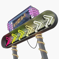3D realistic neon light sign