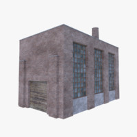 old brick factory 3D model