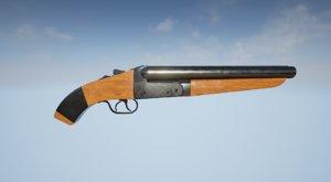 3D sawed shotgun model