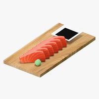 salmon sashimi 3D model