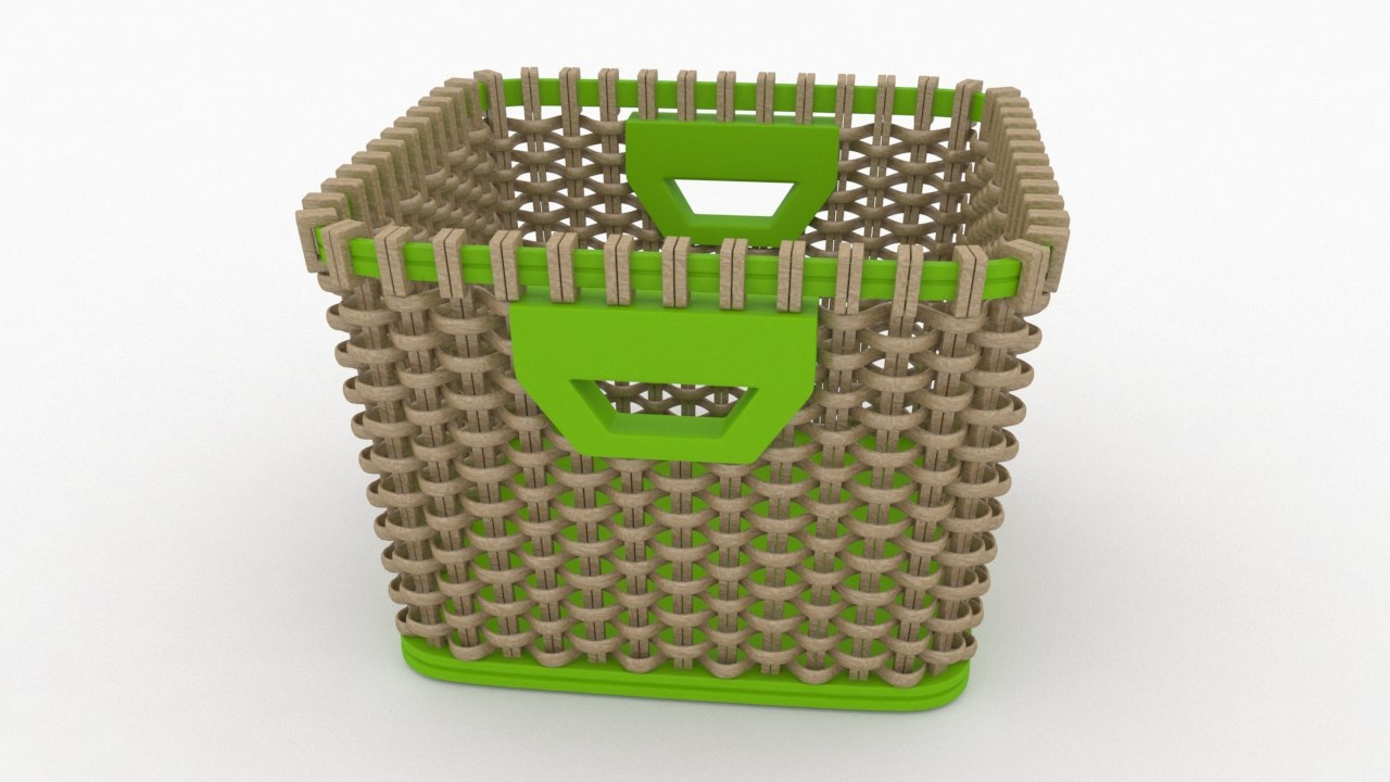 basket fruits vegetables model