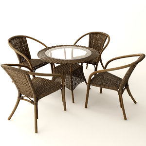 furniture rattan 3D model