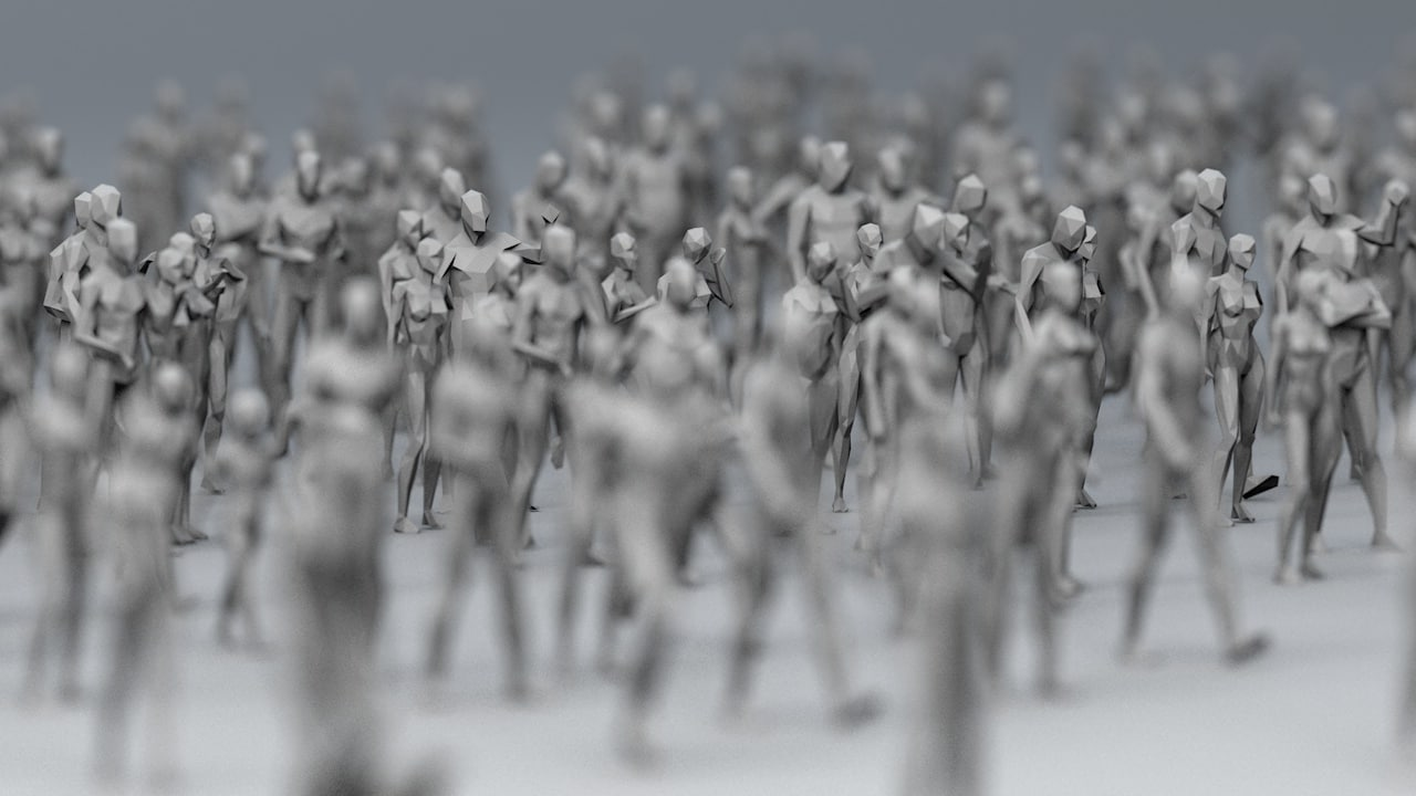 3D crowd character 25