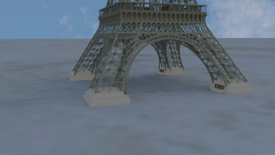 3D model eiffel tower