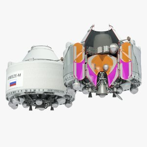 briz-m breeze-m upper stage 3D model
