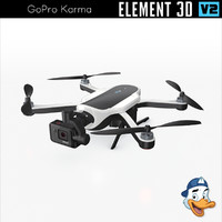3D model gopro karma element