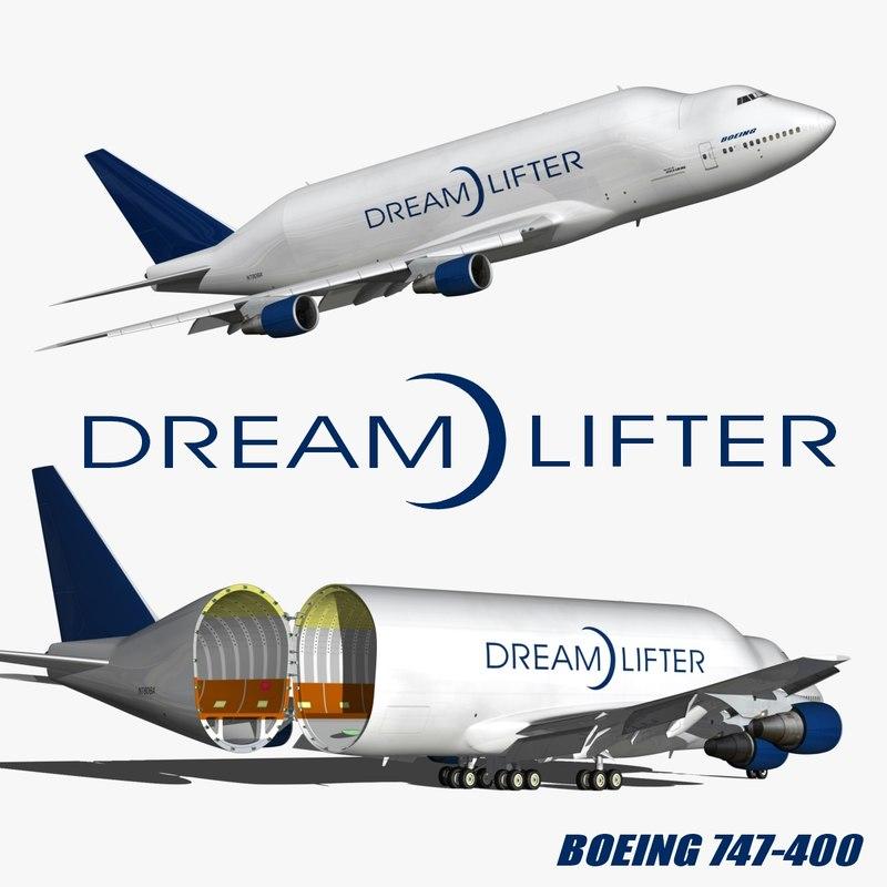 boeing 747 dreamlifter 3D model