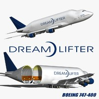 boeing 747 dreamlifter 3D model