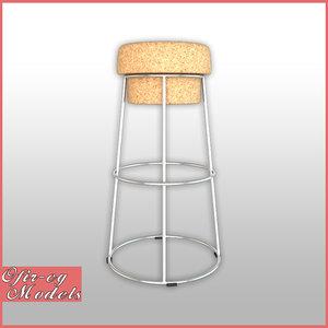 3D bouchon sga bar stool