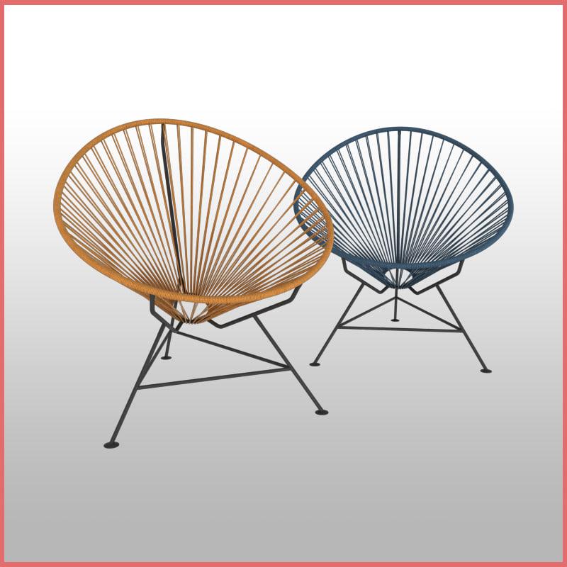 3D acapulco chair