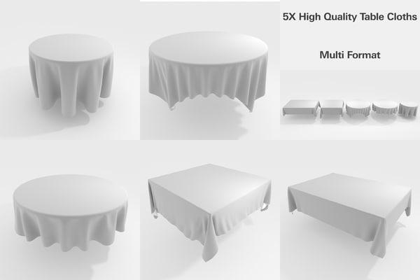 table cloth tablecloths 3D model