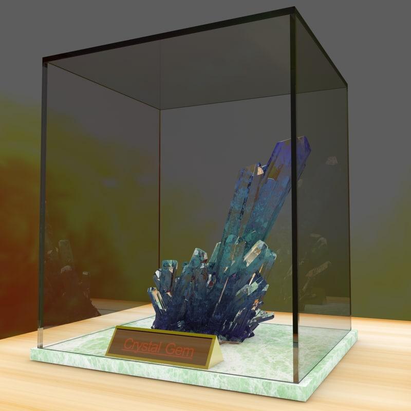 chinese crystal gem 3D model