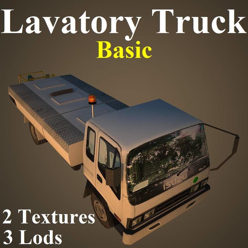 3D model lavatory basic