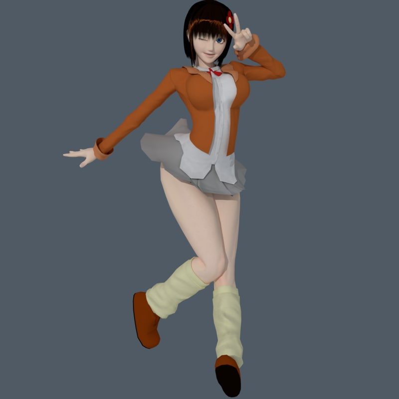 3D aiko-chan character - model