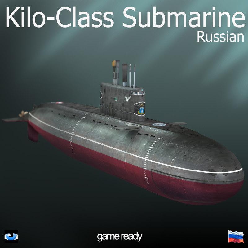 3D russian kilo class submarine