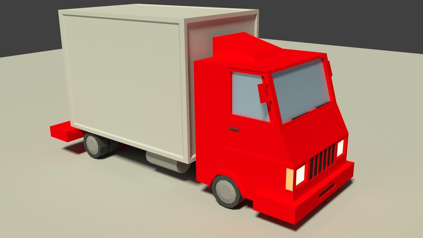 3D model cargo truck