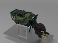 diesel marine engine stern 3D model