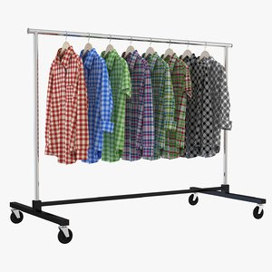 shirt clothing rack model