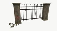 3D model fence old