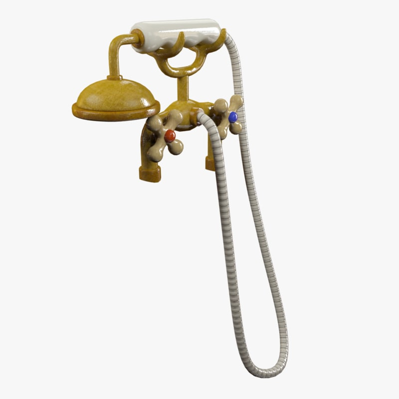 Cartoon water tap shower 3D model - TurboSquid 1158105