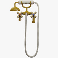 cartoon water tap shower 3D model