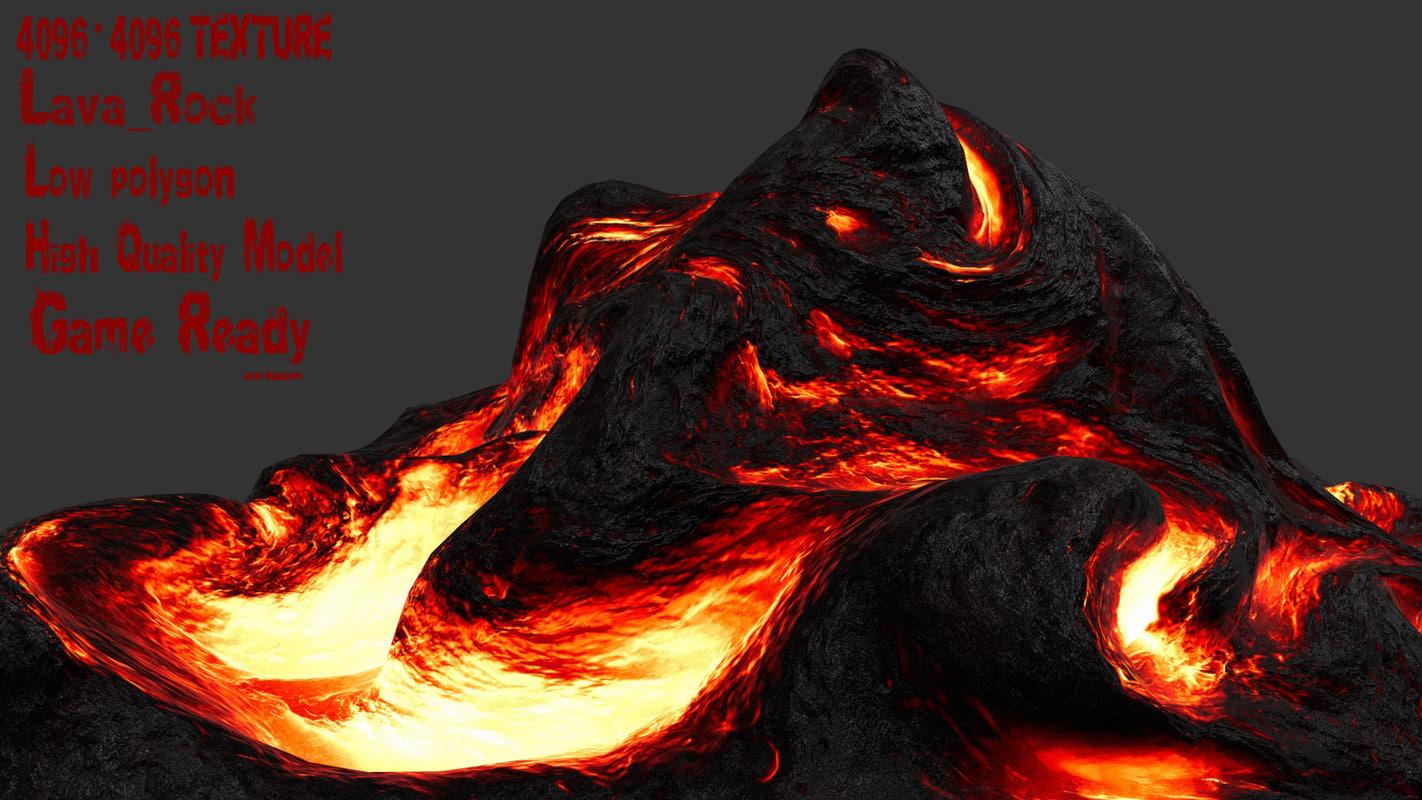 lava rock 3D model
