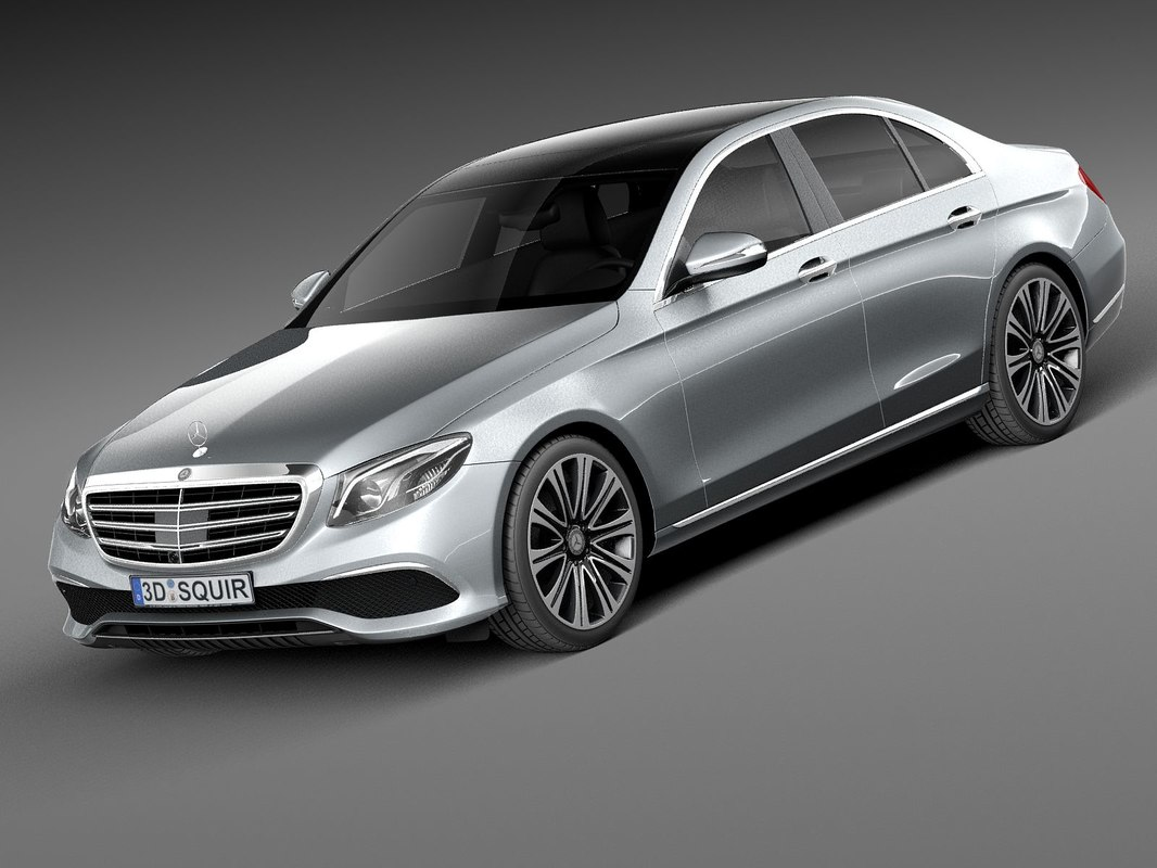 3D mercedes e-class 2017 model