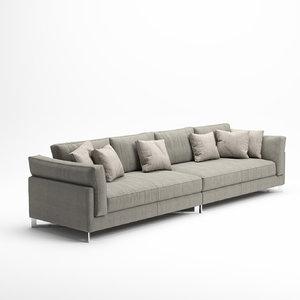 3D model sofa davis