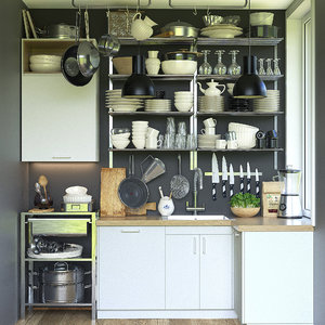 kitchen set 1 3D model
