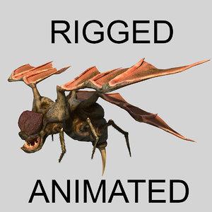 3D fly monster model