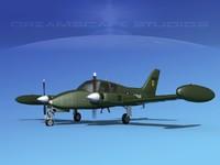 cockpit cessna army 3D model