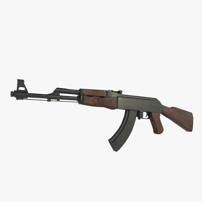 3D ak 47 assault rifle