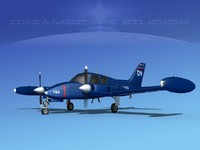 cockpit cessna navy 3D model