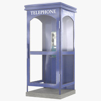 3D telephone box model