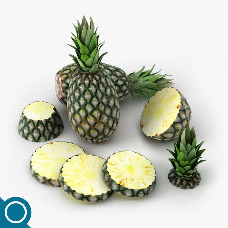 pineapple fruit 3D