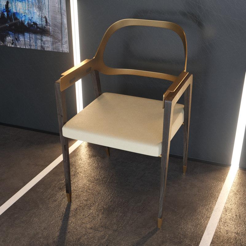 3D charleston chair