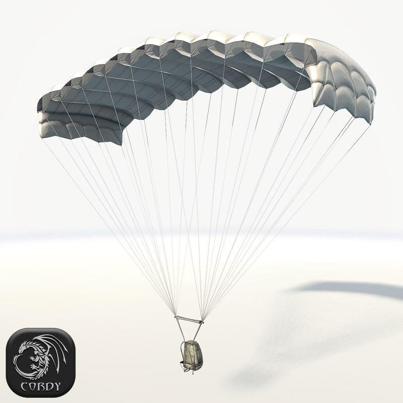 3D parachute ready games model